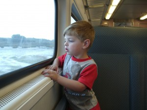 BabyWinkz Consultancy - child's first train ride