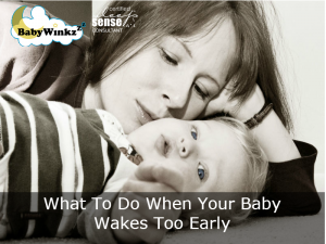 What To Do When Your Baby Wakes Too Early